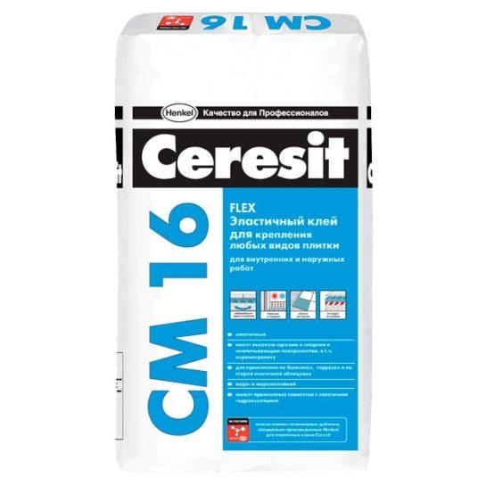 СМ16 Универсальный клей для плитки Ceresit 25кг