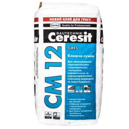 СМ12  Клей крупногабаритной плитки Ceresit 25 кг