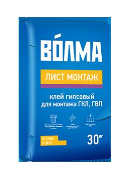 """Смесь монтажная """"Волма-Лист Монтаж"""" 30кг"""