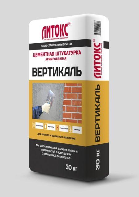 """Штукатурка ЛИТОКС """"ВЕРТИКАЛЬ"""" 30кг. (42шт.)"""