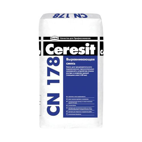 CN178 Легковыравнивающая смесь д/стяжек Ceresit 25 кг (5-80 мм)
